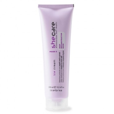 Inebrya Ice Cream Shecare - Deep Reconstructor mask 300 ml