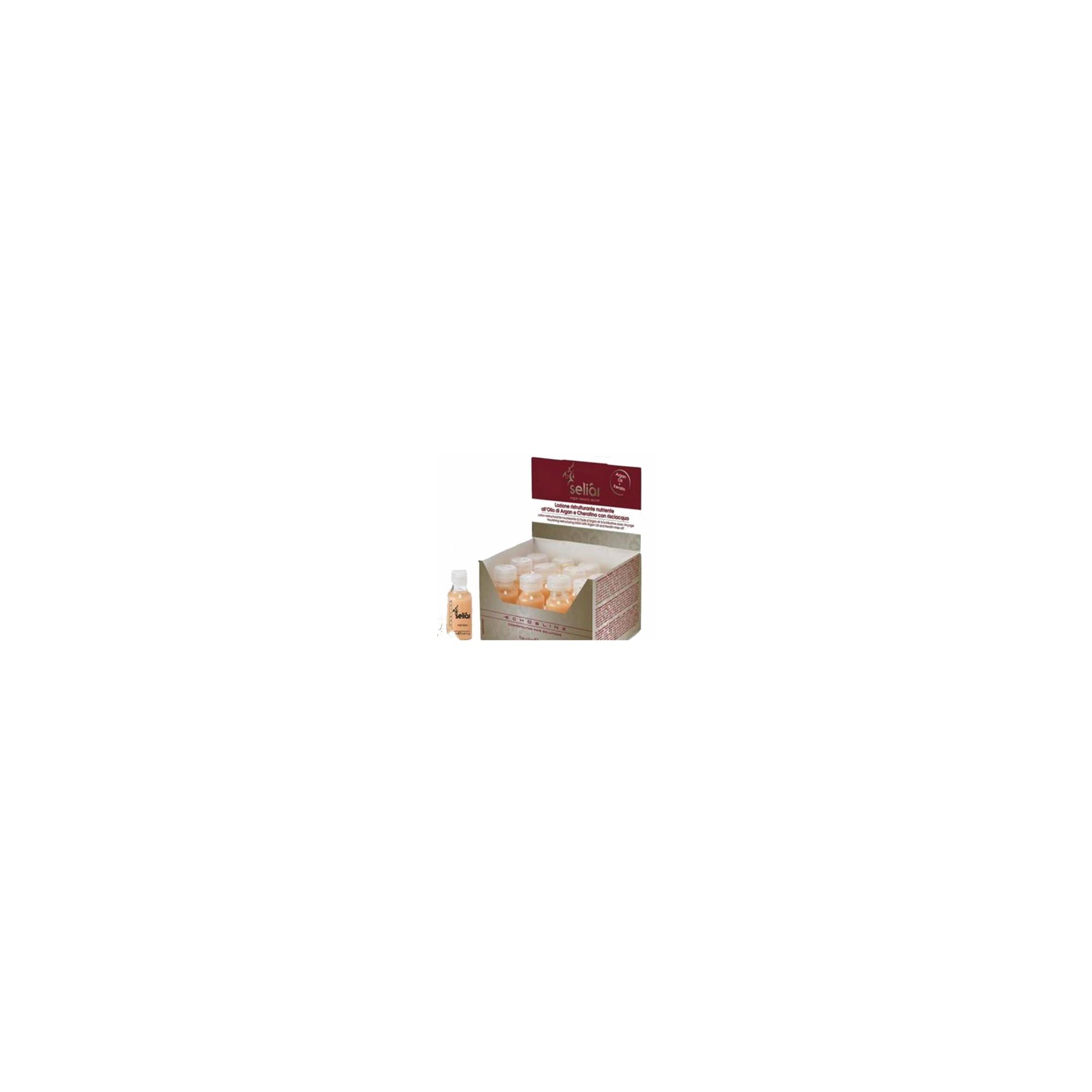 Echos Line Seliar - Argan lotion - Lozione ristrutturante nutriente all'olio di argan e cheratina 12 fiale x 13 ml