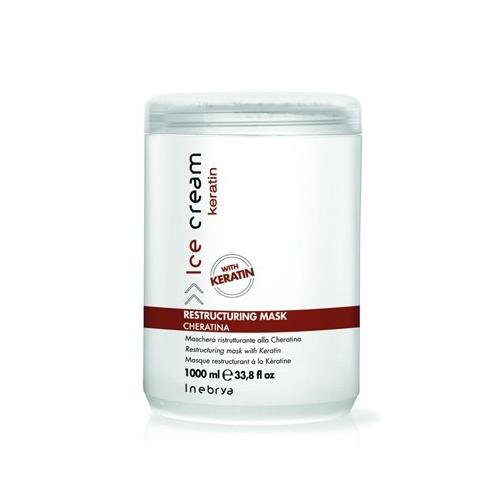 Inebrya Ice cream Keratin - Maschera ristrutturante alla cheratina 1000 ml