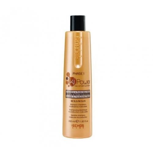 Echos Line Ki Power - Shampoo Cheratinico preparatore ricostruzione molecolare 350 ml