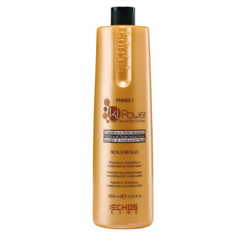 Echos Line Ki Power - Shampoo Cheratinico preparatore ricostruzione molecolare 1000 ml